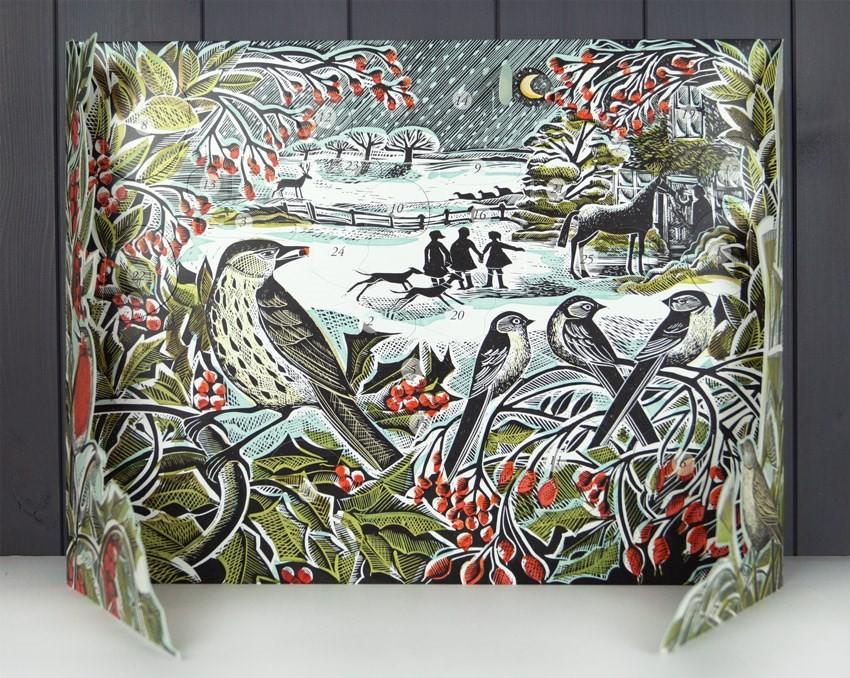 Art Advent Calendar : Angela harding advent calendar holly hedge