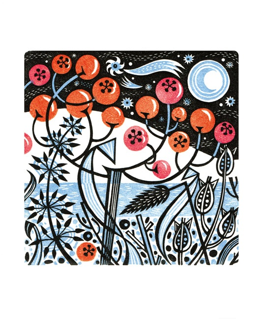 'Winter Berries' by Angie Lewin (A790w) NEW