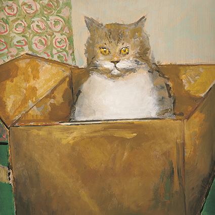 'Cat in the Box' by Ruskin Spear CBE RA (C430)