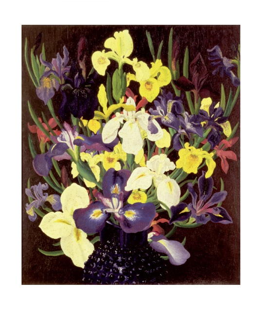 'Group of Irises' c1940 by Cedric Morris (1889 - 1982) (A873) *