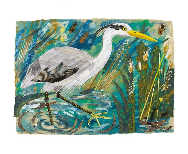 'Heron' by Mark Hearld (A709)
