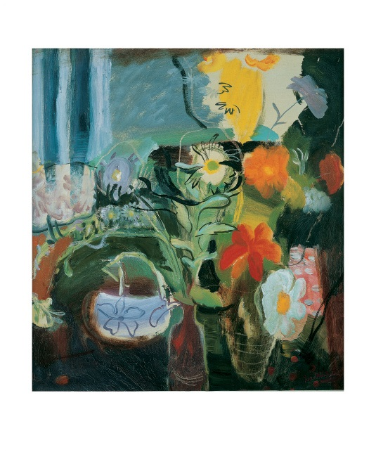 'Flowers' 1942 by Ivon Hitchens (1893 - 1979) (A878) *