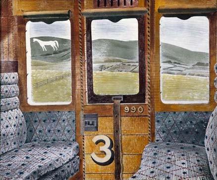 Eric Ravilious Train Landscape