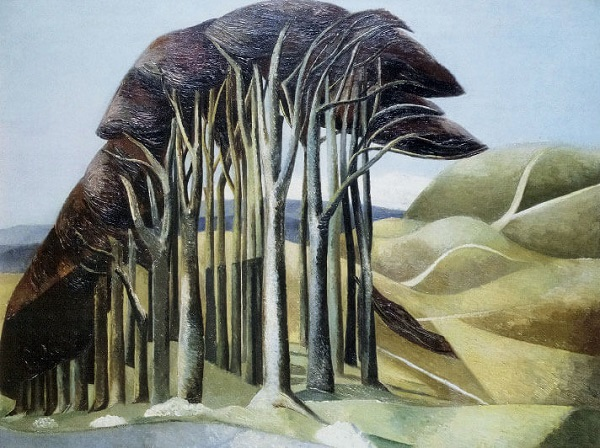 'Wood on the Downs' by Paul Nash (W079) *
