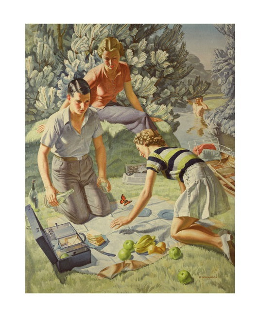 'Picnic' 1938 by Harold Williamson (A769)