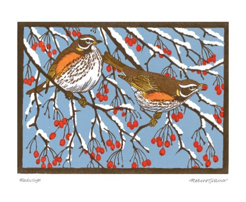 Redwings by Robert Gillmor