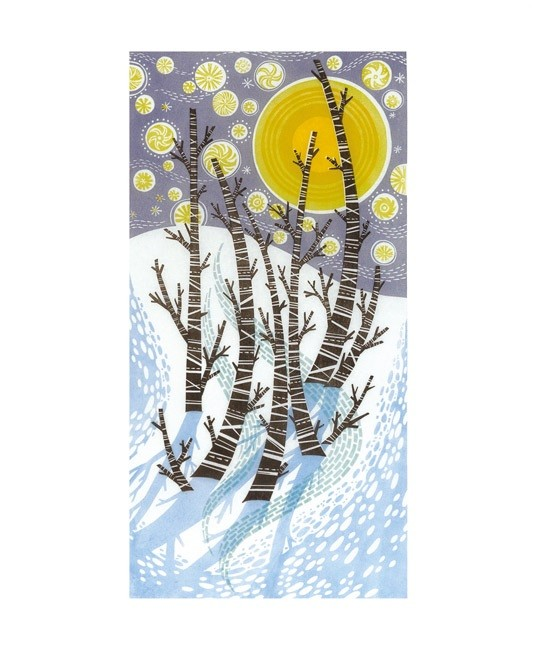 'Snow Birches' by Angie Lewin (A143w)
