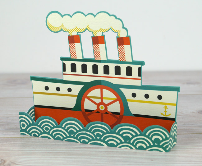 'Boat' Die cut 3D card by Tom Frost (A820)
