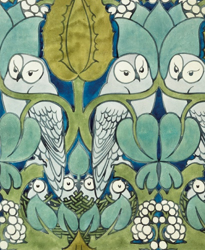 The Owl textile design by C.F.A Voysey  (V064)