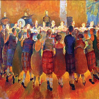 Janet Mccrorie Artist Painting Auld Lang Syne