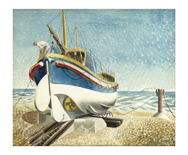 'Lifeboat, 1938' by Eric Ravilious 1903 - 1942 (A593)