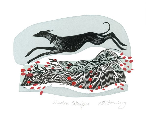 'Winter Whippet' by Angela Harding (A615w)