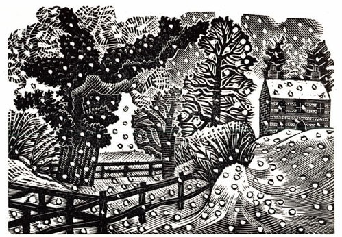 'Considerable Falls of Snow Snow' by Eric Ravilious (cdp28) (5 card pack)